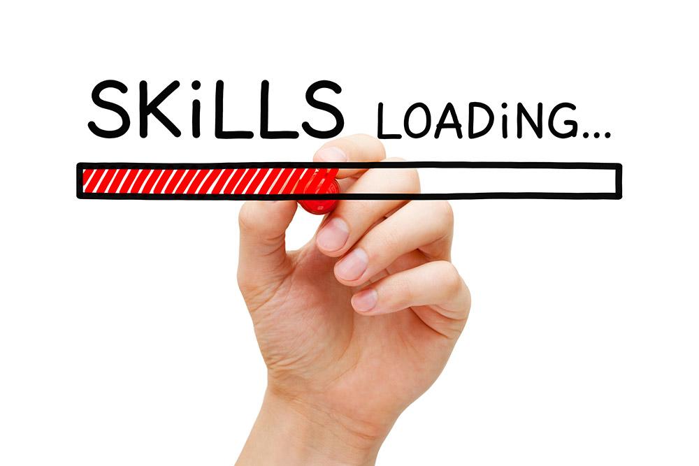 employee upskill loading status