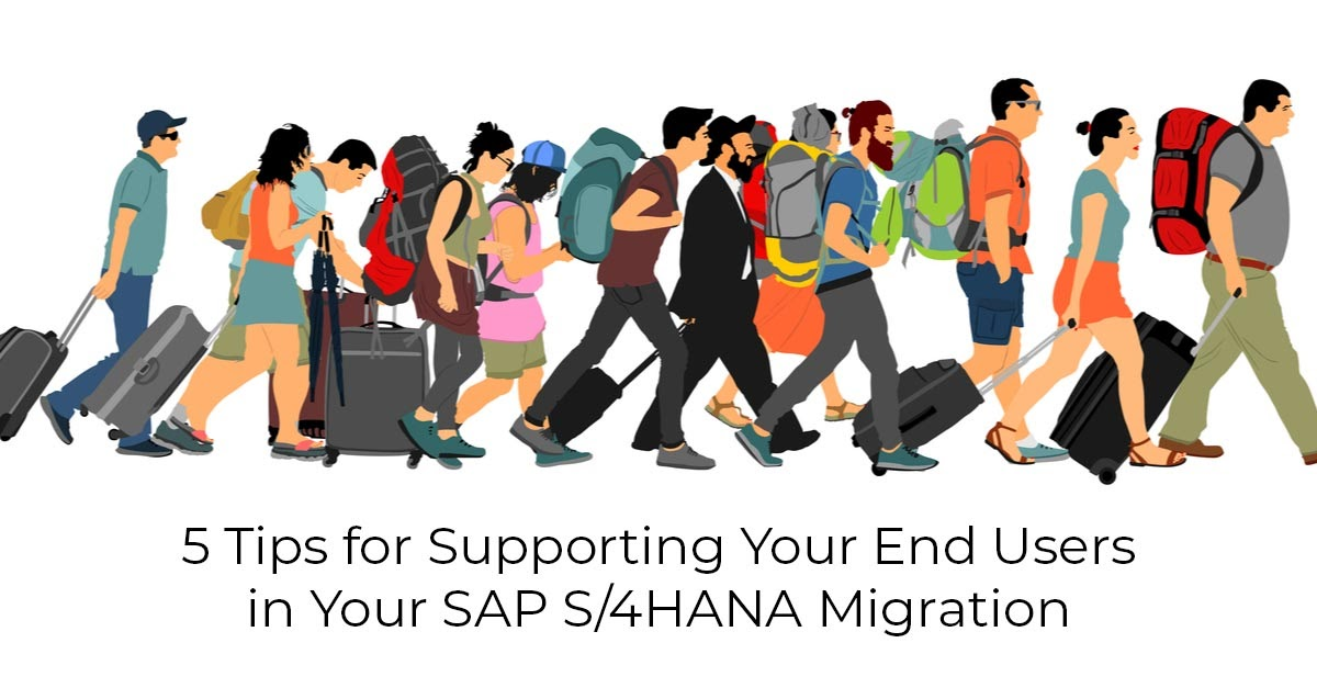 end users migrate to SAP S/4HANA