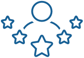 Silhouette and stars icon